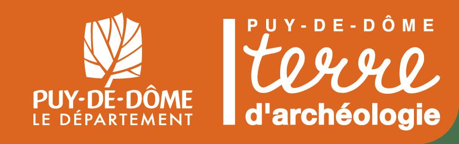 Logo Puy-de-Dôme Terre d'archéologie